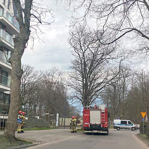 2 zastępy straży pożarnej przy Sienkiewicza
